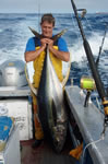 ANGLER: Henry Higgins SPECIES: Yellowfin Tuna WEIGHT: 58.8 Kg TACKLE: 24 Kg line
